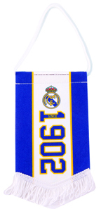 Real Madrid - Club Crest & Date Established Mini Pennant - Cover