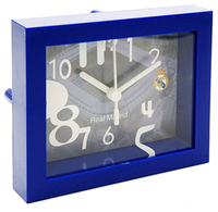 Real Madrid - Club Logo & Stadium Framed Desk Clock With Sweep - Cover