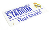 "Real Madrid - Club Crest & Text ""SANTIAGO BERNABEU STADIUM"" Street Sign"