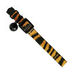 MCP - Plush Leopard Print Cat Collar with Bell