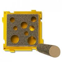 Petstages - Treat Pocket Scratcher with Post (Yellow and Brown)