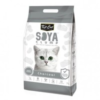 Kit Cat - Clump Clay Soya Cat Litter - Charcoal (2.8kg) - Cover