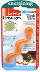 Petstages - 10cm Orka Kat Wiggle Worm Catnip Cat Toy (Orange)