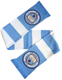 Manchester City - Club Crest & Colours Bar Scarf - Cover
