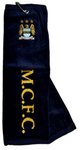 "Manchester City - Club Crest & Text ""M.C.F.C."" Trifold Golf Towel Cover"