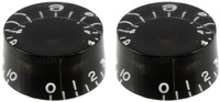 Allparts Black Speed Knobs (Set of 2) - Cover