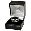 Manchester City - Club Crest Black Inlay Ring (Small)