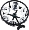 Meinl THH1BK Professional Series Sing Row Hi-Hat Tambourine with Steel Jingles (Black)