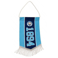 Manchester City - Club Crest & Year Established Mini Pennant - Cover