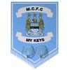 Manchester City - Club Crest Key Hanging Hooks Pennant