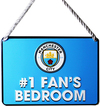 Manchester City - No 1 Fan Bedroom Sign Cover