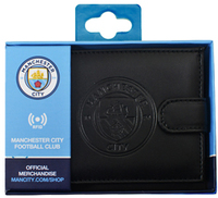Manchester City - RFID Embossed Leather Wallet - Cover