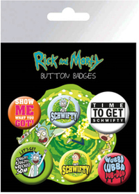 Rick and Morty - Button Badges - Cover