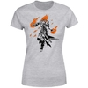 Magic The Gathering - Chandra Character Art Women's Grey T-Shirt (Large)