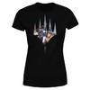 Magic The Gathering - Key Art With Logo Women's Black T-Shirt (Small)