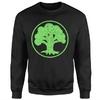Magic The Gathering - Green Mana Men's Black Sweatshirt (Medium)