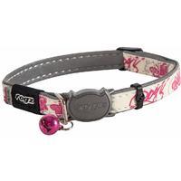 Rogz - Catz GlowCat 11mm Reflective Glow-in-the-Dark Safeloc Breakaway Cat Collar (Pink Butterflies Design)
