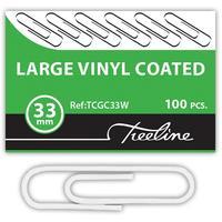 Treeline - PVC Coated White Gemclips 100's - 33mm