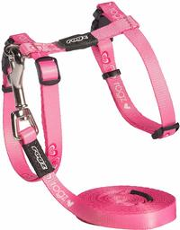 Rogz - Catz KiddyCat 8mm Extra Small Cat H-Harness and Lead Combination (Pink Hearts Design) - Cover