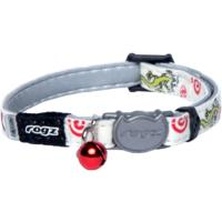 Rogz - Catz GlowCat 8mm Reflective Glow-in-the-Dark Safeloc Breakaway Cat Collar (Gecko Design)