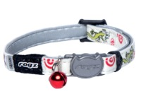 Rogz - Catz GlowCat 8mm Reflective Glow-in-the-Dark Safeloc Breakaway Cat Collar (Gecko Design) - Cover