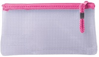 Treeline - Mesh Pencil Bag with Pink Zip - 22cm (Pack of 1) - Cover