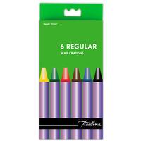 Treeline - Regular Wax Crayons 6 Piece (Box of 10)