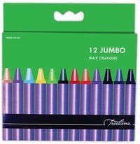 Treeline - Jumbo Wax Crayons 12 Piece (Box of 10) - Cover