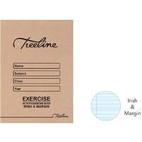 Treeline - A5 72 pg Irish & Margin Exercise Book