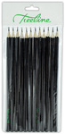 Treeline - Pencils HB Sharpened 12's Economy Black Barrel