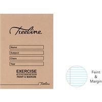 Treeline - A5 72 pg Feint & Margin Exercise Book (Pack of 20)