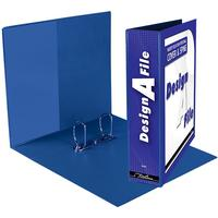 Treeline - A4 Design-A-File 2 D Ring 50mm - Blue (Box of 10)