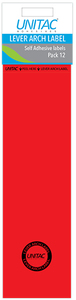 Unitac - Lever Arch Labels - Red Pack of 12 (Box of 10) - Cover