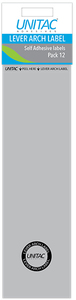 Unitac - Lever Arch Labels Pack of 12 Grey (Box of 10) - Cover