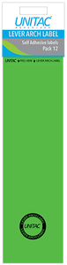 Unitac - Lever Arch Labels - Neon Green (Pack of 12) - Cover