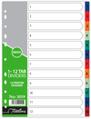Treeline - A4 Index 1 to 12  Printed PVC Divider (Box of 10)