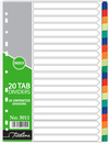 Treeline - A4 Index 20 Tab Rainbow PVC Divider (Box of 10)