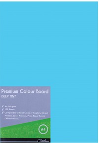 Treeline - A4 Deep Tint 160gsm Project Board - 100 Sheets Turquoise (Box of 10) - Cover