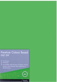 Treeline - A4 Deep Tint 160gsm Project Board - Parrot (Pack of 100) - Cover