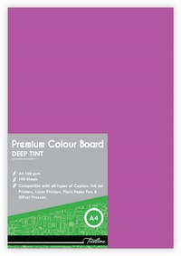 Treeline - A4 Deep Tint 160gsm Project Board - 100 Sheets Pink (Pack of 10) - Cover