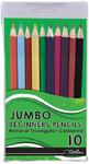 Treeline - Pencil Crayons 10's Triangular Jumbo Grip