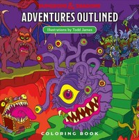 Dungeons & Dragons Adventures Outlined Coloring Book - Todd James (Paperback) - Cover
