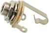 Switchcraft 11 Mono 1/4 Inch Instrument Input Jack (Silver)