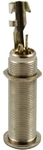 Switchcraft 1/4 Inch Stereo Long Threaded Barrel Input Jack - Nickel (Pack of 25)