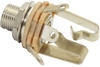 Switchcraft 1/4 Inch Stereo Long Threaded Input Jack (Nickel)