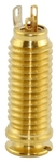 Switchcraft Acoustic Guitar Stereo 1/4 Inch Screw-In End Pin Input Jack (Gold)