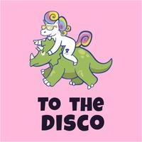 Unicorn to the Disco Women's Pink T-Shirt (Medium)