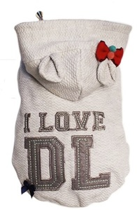 Dog's Life - I Love DL Hoodie - Grey (Small) - Cover