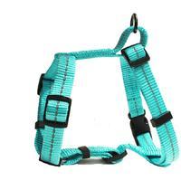 Dog's Life - Reflective Supersoft Webbing H Harness - Turquoise (Medium)