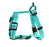 Dog's Life - Reflective Supersoft Webbing H Harness - Turquoise (Medium) - Cover